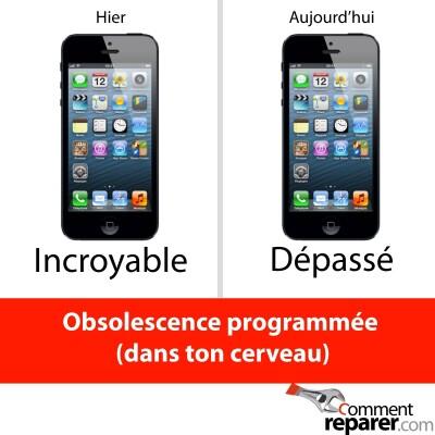 Iphone 5 : l'obsolescence programmée (dans nos cerveaux)