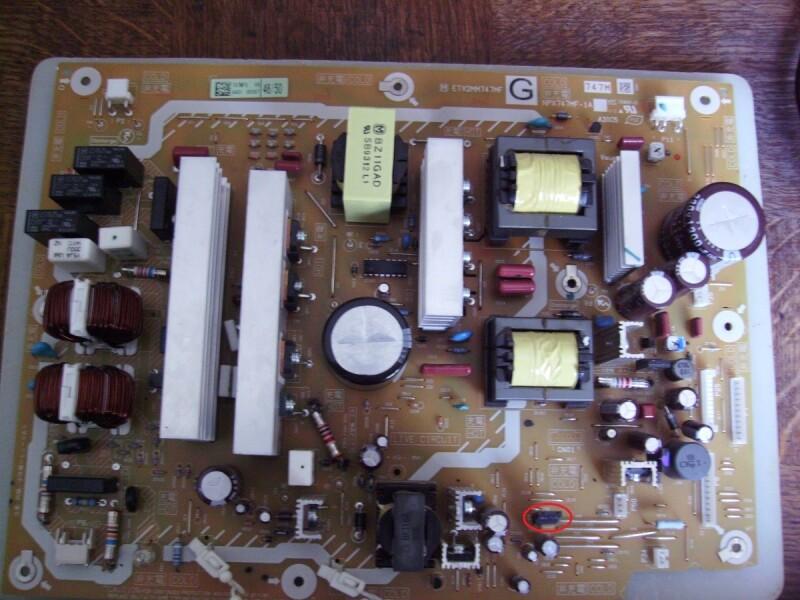 T l vision plasma panasonic ne s 39 allume plus apprenez tout r parer - Comment savoir si le courant passe avec un multimetre ...