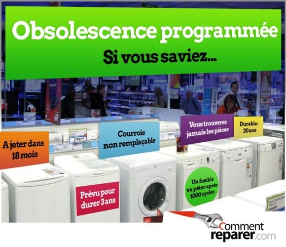 Obsolescence programmée : si vous saviez (l'affiche)