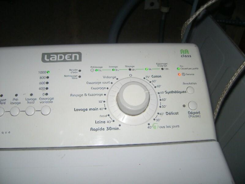 Lave linge lave linge laden fl 1256 voyant cl a molette - Eau de javel machine a laver ...