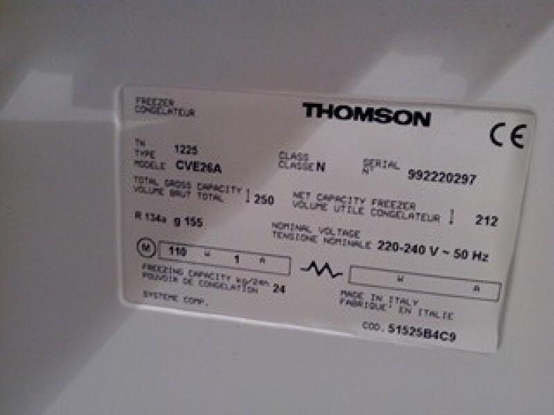 Congélateur - Congélateur Thomson alto system alarme ne s'éteint ...