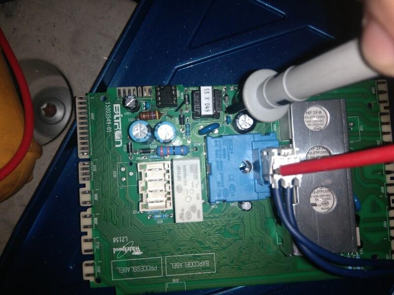 Lave Linge Whirlpool Qui Reset Au Demarrage Apres Changement 3 Composants Carte