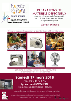 Photo Repair Café au Lycée Becquerel de Tours