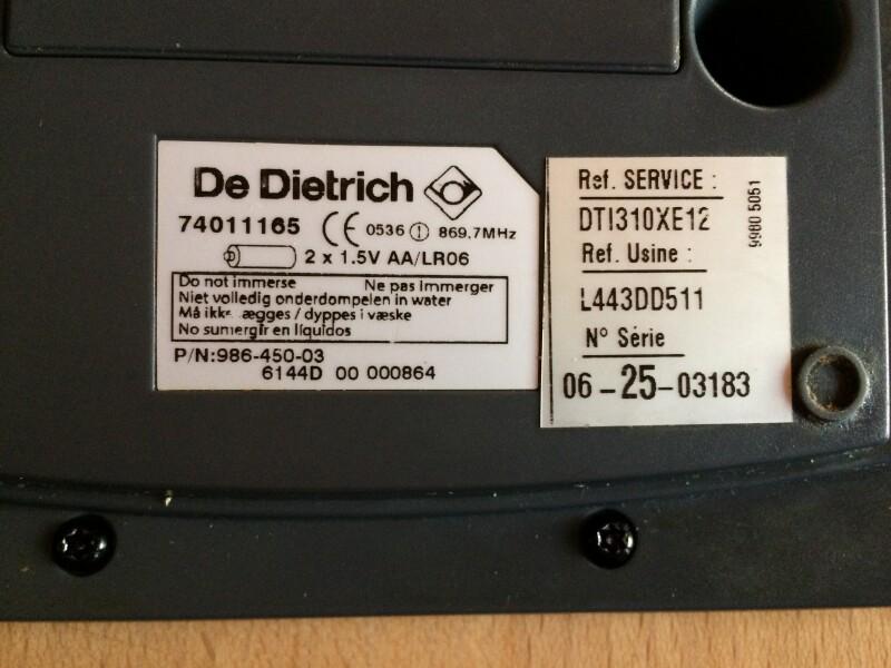 info pour 5463a 5cc35 problème avec télécommande plaque induction De Dietrich