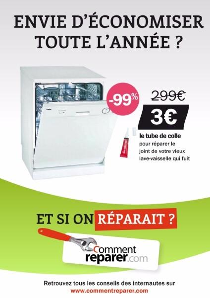 """Affiche """"Soldes Lave-Vaisselle"""" -99% de réduction"""