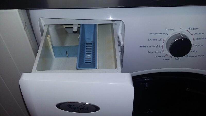 Fuite d 39 eau whirlpool awoe 9558 au demarrage - Bac a detergent lave linge ...